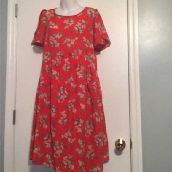 99ce153a143 Chris   carol Red floral maternity dress